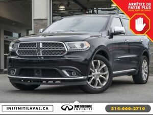 2016 Dodge Durango Citadel AWD Sunroof Cuir-Chauffant Bluetooth