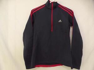 ADIDAS RESPONSE RUNNING, small, partial zip front exercise, workout, fitness, running shirt with thumbholes GUC