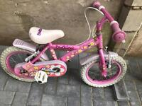"Daisy girls pink bike 14"" wheels works only £12"