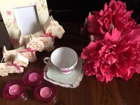 Assortment of pretty pink accessories