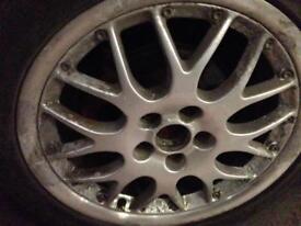 """16"""" bbs rx2 split anniversary alloy wheels 5x100 pcd"""
