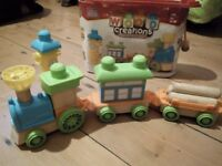 Wood Creations Building Set of trains and farm vehicles