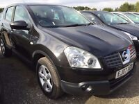2007 NISSAN QASHQAI ACENTA 2WD 1.5 DCI 6 SPEED MANUAL DIESEL PANORAMIC GLASS ROOF,ALLOYS ETC.