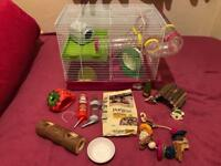 Ferplast Hamster Cage + accessories