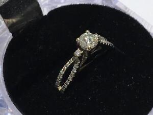 #1357 18K WHITE GOLD DIAMOND ENGAGEMENT RING JUST OVER HALF CARAT. SIZE 5 1/4 **JUST BACK FROM APPRAISAL AT $3250.00**