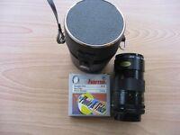 Camera Lens. Canon FD Vivitar Auto Telephoto Lens.