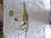 Mama & Papa's baby blanket - very colourful and decorative - used but super condition