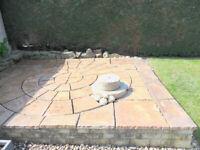 Garden Patio Circle Stones - Used