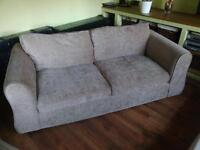 Pair of Beautiful Three Seater Fabric Sofas | Delivery Available