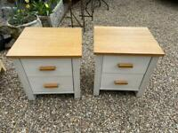 PAIR OF OAK TWO DRAWER BEDSIDE CHESTS