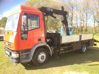 Iveco new cargo 120e15 12tonne hiab 071 crane truck