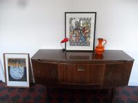 Beautility 1960's Formica Sideboard Storage Unit TV stand Draws Great British Design Display Case