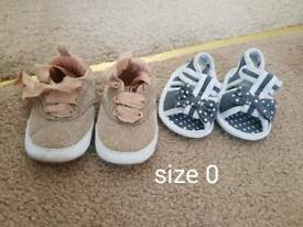 Size 0 girls shoes