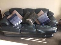 Italian leather sofa and reclining chair looking for quick sale make me offer