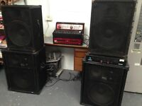 Disco full sound system inc dual CD players and mixer