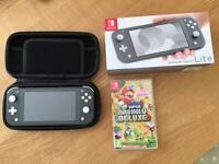 Nintendo switch + minecraft, mario bros, animal crossings
