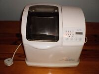 Breville Breadmaster fan powered automatic breadmaker with manual.