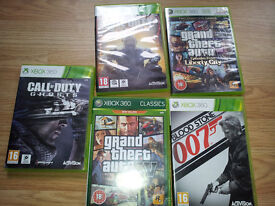 5 games for xbox360