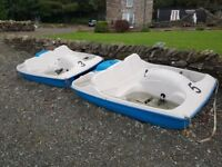 2 x pedal boats for sale