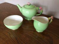 Beautiful Vintage Royal Winton Teaset, including teapot, milk jug and sugar bowl.