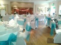 CHAIR COVER HIRE £1.00 PER CHAIR - WEDDINGS, PARTIES, CHRISTENINGS
