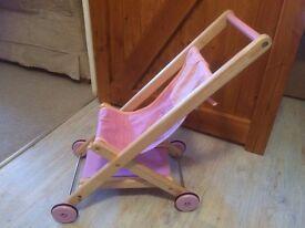 Wooden Doll's Buggy / Stroller / Pram