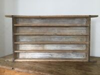 Rustic Stripped Pine Shelves