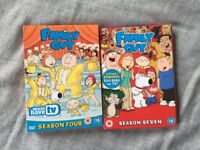 Family Guy DVD season 4 and 7 (6 DVDs total)