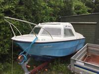 Cabin Boat,30hp 4 stoke Honda,Trailer