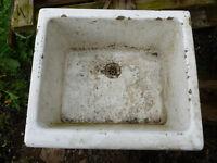 Enamel Kitchen Sink - Planter