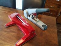 Heavy duty hole punch and stapler
