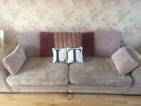 2 and 3 seater velvet fabric sofa £150 Ono!