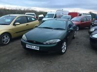 V6 FORD cougar coupe in lovely condition good sports hatch in lovely green black leather interior