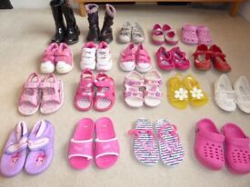 Summer Shoes - 20 Pairs of Size 9 Children's Shoes/ Boots/ Slippers/ Pumps/ Sandals