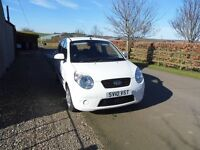 2010 Kia picanto 2, low insurance, £30 road tax, 57mpg avg, immaculate condition