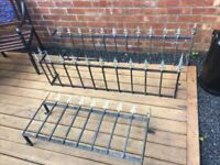 3 X Wrought Iron Railings / Wall Toppers / Window Grills / Mangers- DELIVERY OR COLLECTION