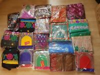 JOB LOT NEW DESIGN INDIAN LADY LADIES SUITS LADIES DRESSES NEW UNSTITCHED IN PACKAGING PARTYWEAR