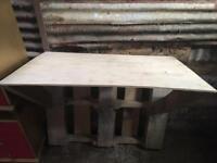 Homemade Pallet Desk