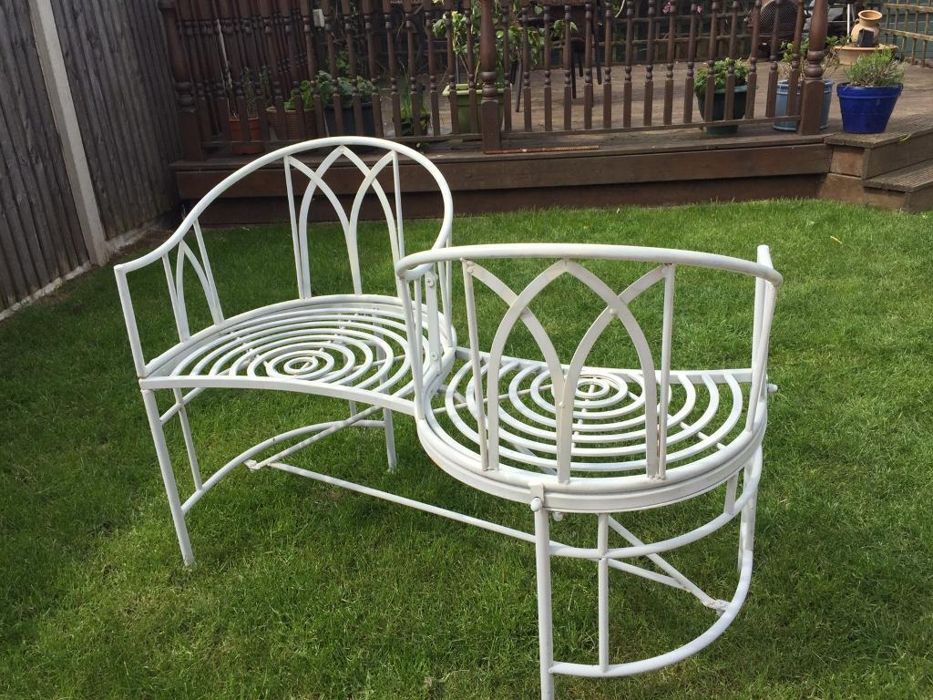 outdoor 2 seater metal kissing bench in gamston nottinghamshire