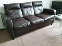 Italiasofa leather three seater couch