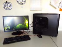 NEW GAMING SET - UK DELIVERY - WARRANTY 1YEAR - 8 CORE CPU - 32GB RAM - LIQUID - RADEON - MONITOR !