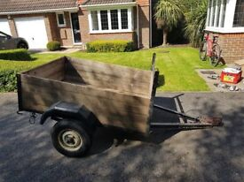 Box Trailer 5x4 with hindged Tailboard