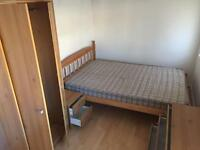 Pine effect wardrobe and chests of drawers - Used
