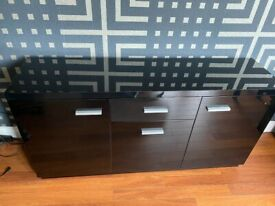 Gloss black sideboard
