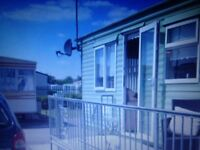 Caravan for hire on Happy days holiday campsite. Towyn , North Wales.