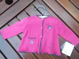 Cardigan by Mamas & Papas 0-3 months (was £18) brand new