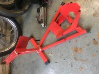 Motor bike wheel stand