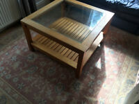 ABSOLUTE BARGAIN MARKS AND SPENCERS OAK COFFEE TABLE PAID £350.00