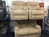 NEW/EX DISPLAY ScS JOYCE HIGH BACK FABRIC 2 + 1 + 1 SEATER SOFAS, 70% Off RRP