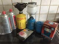 Camping stove and light job lot